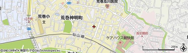 宮城県仙台市青葉区荒巻神明町周辺の地図