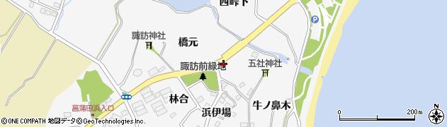 宮城県宮城郡七ヶ浜町菖蒲田浜石畑周辺の地図