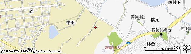 宮城県宮城郡七ヶ浜町松ヶ浜中田周辺の地図