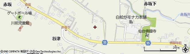 宮城県仙台市青葉区芋沢(赤坂中)周辺の地図