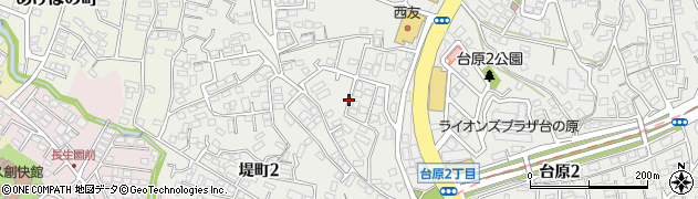 宮城県仙台市青葉区堤町周辺の地図