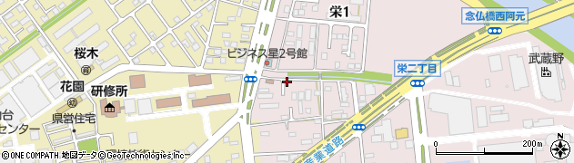 宮城県多賀城市栄周辺の地図