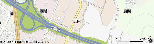 山形県山形市近田周辺の地図