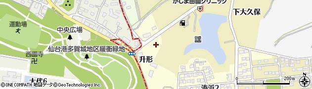 宮城県宮城郡七ヶ浜町湊浜升形周辺の地図