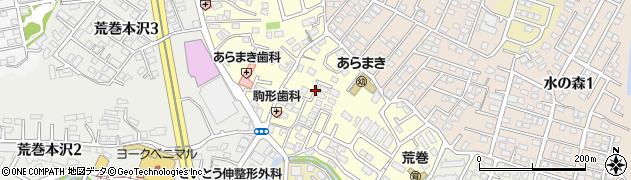 宮城県仙台市青葉区荒巻中央周辺の地図