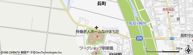 山形県山形市長町周辺の地図