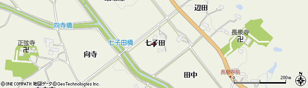 宮城県仙台市青葉区芋沢(七子田)周辺の地図