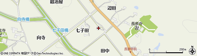宮城県仙台市青葉区芋沢(田中)周辺の地図