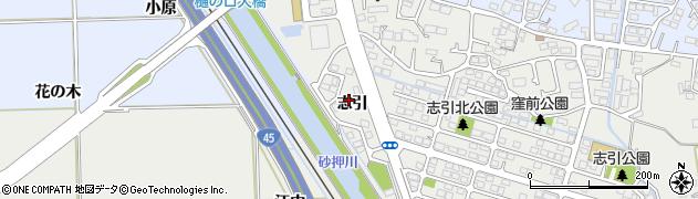 宮城県多賀城市東田中志引周辺の地図