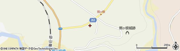 宮城県仙台市青葉区熊ケ根(町一番の五)周辺の地図