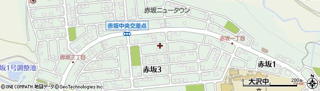 宮城県仙台市青葉区赤坂周辺の地図