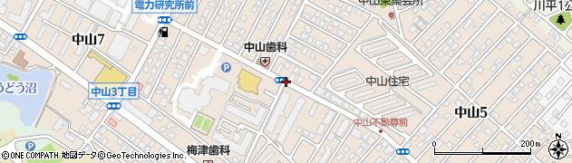 宮城県仙台市青葉区中山周辺の地図