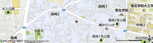 宮城県多賀城市高崎周辺の地図
