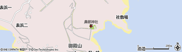 宮城県宮城郡七ヶ浜町花渕浜誰道周辺の地図