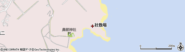 宮城県宮城郡七ヶ浜町花渕浜社敷場周辺の地図