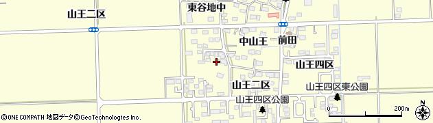 宮城県多賀城市山王西山王周辺の地図