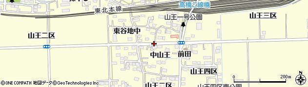 宮城県多賀城市山王中山王周辺の地図