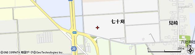 山形県山形市七十刈周辺の地図