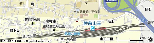 宮城県多賀城市山王千刈田周辺の地図