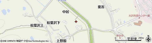 宮城県仙台市青葉区芋沢(中居)周辺の地図