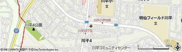 宮城県仙台市青葉区川平周辺の地図