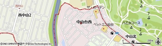 宮城県仙台市青葉区中山台西周辺の地図