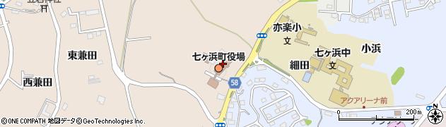 宮城県宮城郡七ヶ浜町周辺の地図