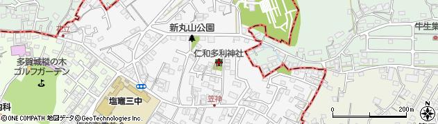 仁和多利神社周辺の地図