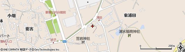 宮城県宮城郡七ヶ浜町東宮浜東兼田周辺の地図