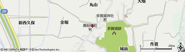 宮城県多賀城市市川金堀周辺の地図