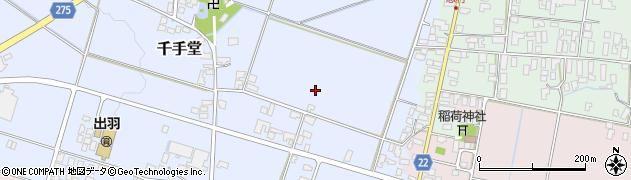 山形県山形市千手堂周辺の地図