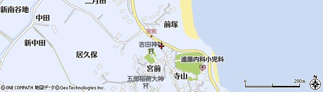 宮城県宮城郡七ヶ浜町吉田浜前塚周辺の地図