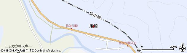 宮城県仙台市青葉区作並(川崎)周辺の地図
