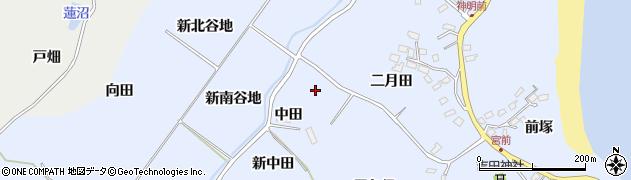 宮城県宮城郡七ヶ浜町吉田浜新二月田周辺の地図