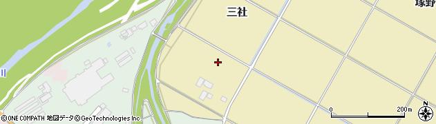 山形県山形市三社周辺の地図