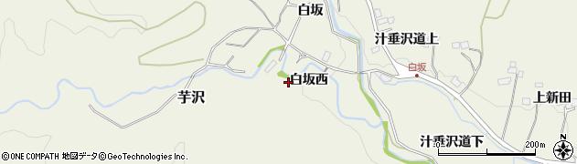 宮城県仙台市青葉区芋沢(白坂西)周辺の地図
