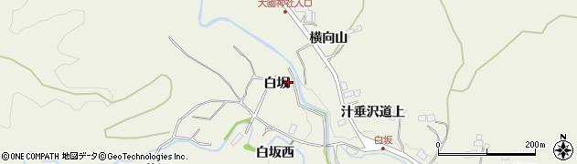 宮城県仙台市青葉区芋沢(白坂)周辺の地図