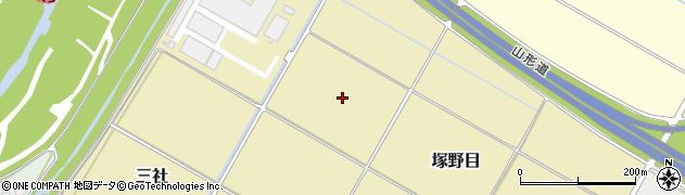 山形県山形市塚野目周辺の地図