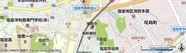 東園寺周辺の地図