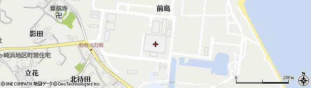 宮城県宮城郡七ヶ浜町代ヶ崎浜前島周辺の地図