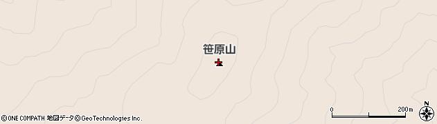 笹原山周辺の地図