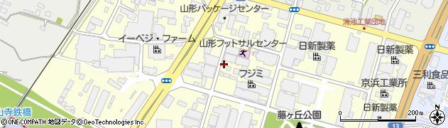 山形県天童市清池東周辺の地図