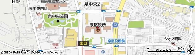 宮城県仙台市泉区周辺の地図