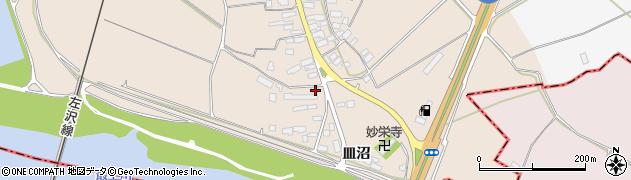 山形県寒河江市島皿沼西周辺の地図