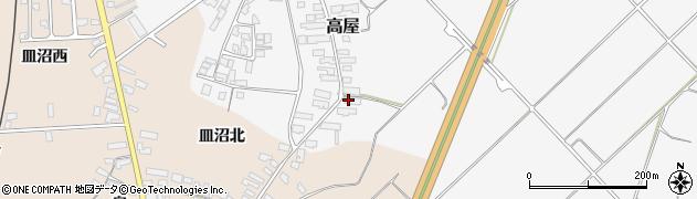 山形県寒河江市高屋西浦132周辺の地図