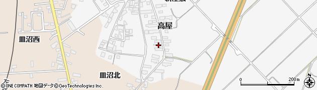 山形県寒河江市高屋西浦136周辺の地図