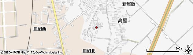 山形県寒河江市高屋西浦116周辺の地図