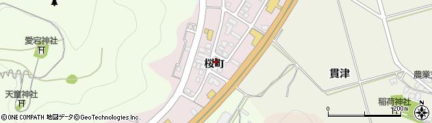 山形県天童市桜町周辺の地図