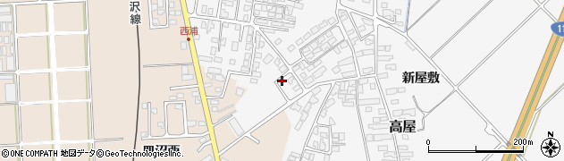 山形県寒河江市高屋西浦490周辺の地図