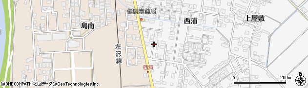 山形県寒河江市高屋西浦433周辺の地図
